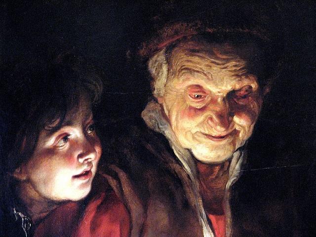 Peter Paul Rubens: Stará žena a chlapec se svíčkou (1617)