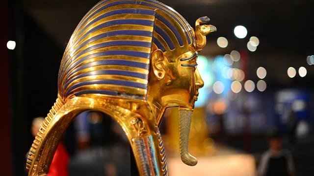 Replika Tutanchamonovy zlaté masky