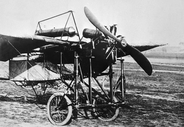 Kašparův Blériot po přistání