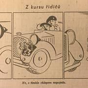 Jeden z Křečkových vtipů pro humoristický časopis Kaktus, vycházející u Tobrúku