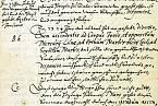 Výňatek Valdštejnova prvního horoskopu od Keplera