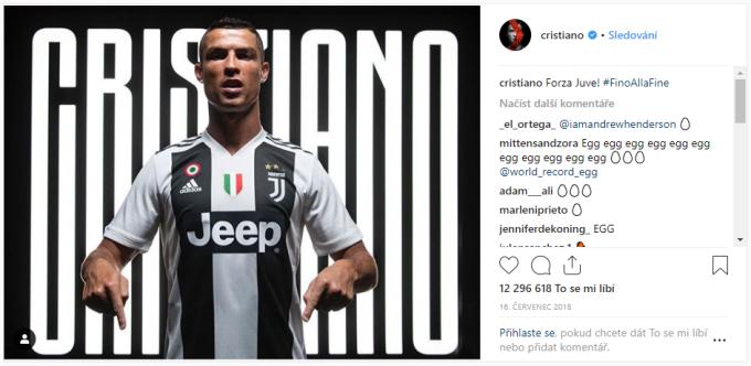 8. místo - Oznámení přestupu Cristiana Ronalda do turínského Juventusu