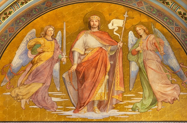 Freska od Františka Sequense vkostele Svatého Cyrila Metodeje