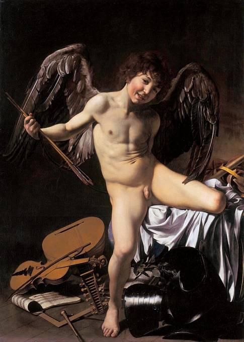 Vítězný Amor od Caravaggia