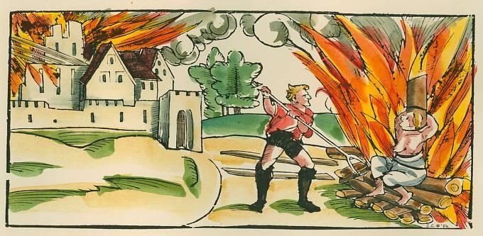 Upalování čarodějnic ve středověku