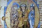 Svatý Prokop, Václav a Vojtěch na iluminaci ze 13. století
