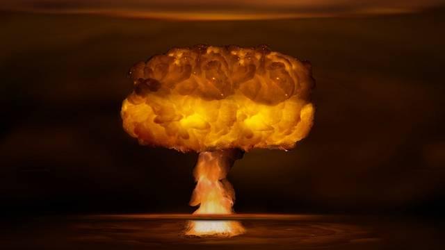 Atomový výbuch - ilustrační foto