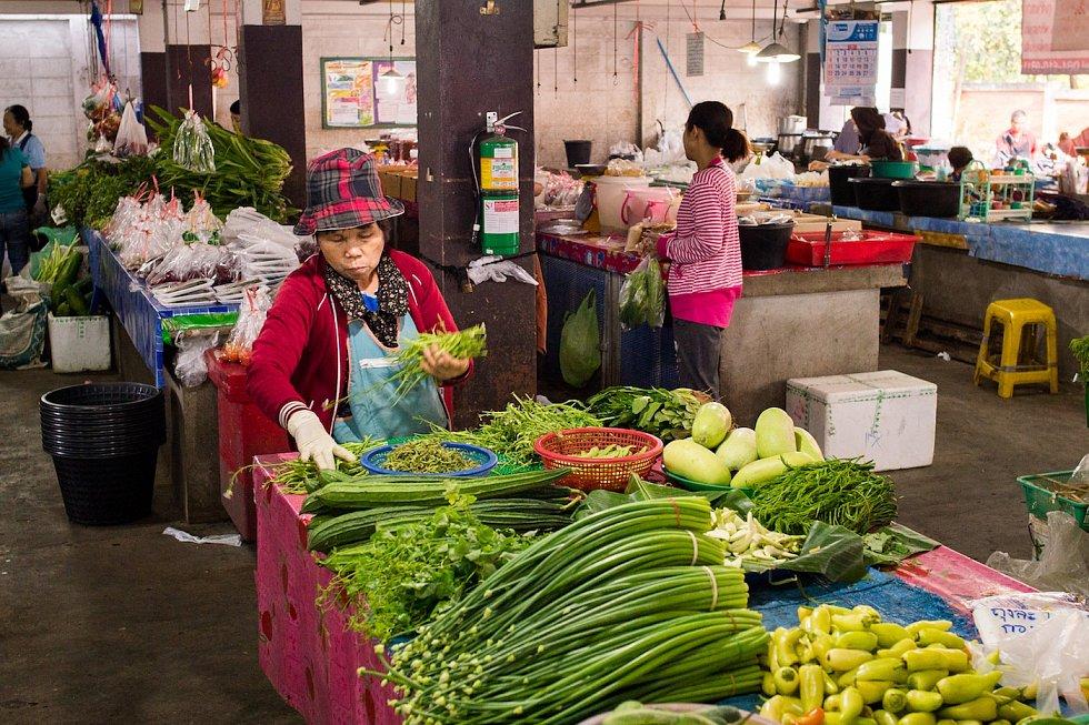 Jeden z trhů v Chiang Mai