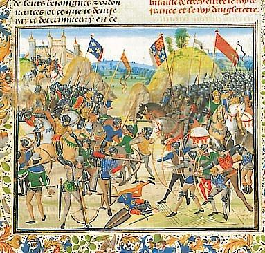 Dobové vyobrazení bitvy uKresčaku