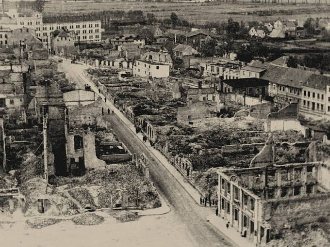 Německé město Demmin, dějiště největší masové sebevraždy v historii země
