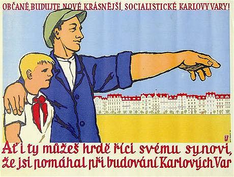 Dosidlování pohraničí vrůžových barvách rudé propagandy