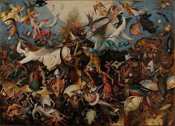 Pieter Bruegel st.: Pád vzbouřených andělů (Kolem 1530)