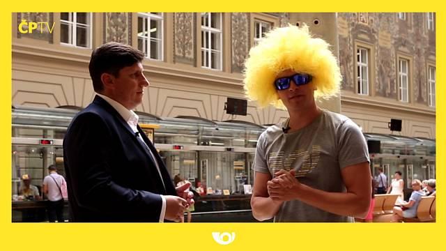 Video České pošty oznamující vznik nového Youtube kanálu