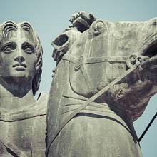 Socha Alexandra Velikého v Soluni