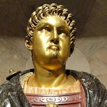 Bronzová socha císaře Nerona, Itálie, 16. století