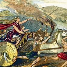 Boudicca bojuje proti Římanům