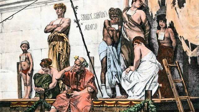 Trh s otroky ve starém Římě