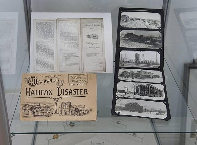 Exponáty muzea věnovaného výbuchu; Halifax