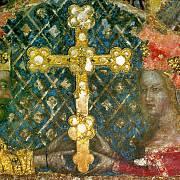 Portrét Karla IV. a jeho manželky Anny Svídnické v Kateřinské kapli na Karlštejně