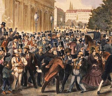 Černý pátek na Vídeňské burze, jak ho viděli současníci.