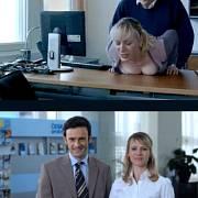 Koláž tvůrce známého jako Ateo, který si rovněž všiml přítomnosti dánské herečky v české reklamě