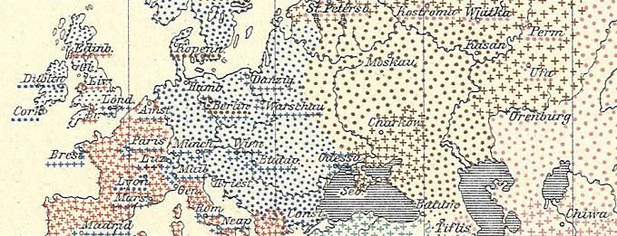 Mapování ruské chřipky v letech 1889-1890