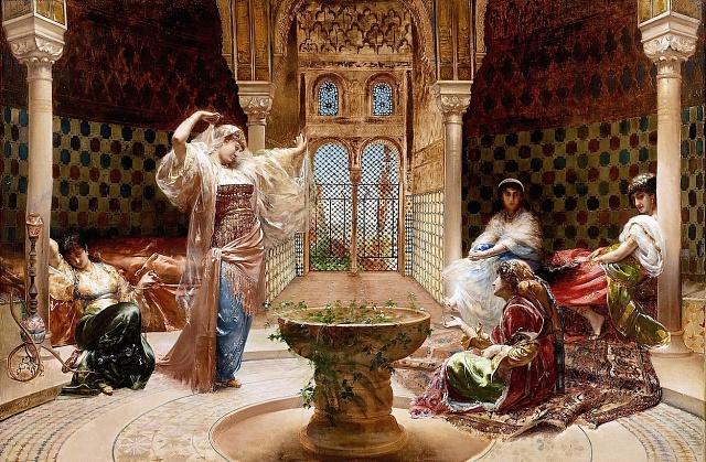 Malba Edouarda Frederica Wilhelma Richtera - Tanec vharému