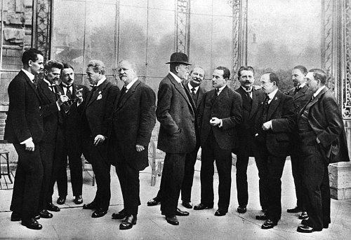 Setkání českých politiků vŽenevě vříjnu 1918, Jaroslav Preiss je šestý zprava