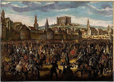 Aby evropské velmoci uznaly bratislavskou korunovaci Marie Terezie na uherskou královnu (na snímku) a pražskou korunovaci na královnu českou, musela se panovnice vzdát Slezska a Kladska ve prospěch Pruska