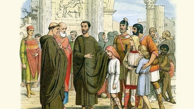Gregoriánští a angličtí otroci ve starověkém Římě
