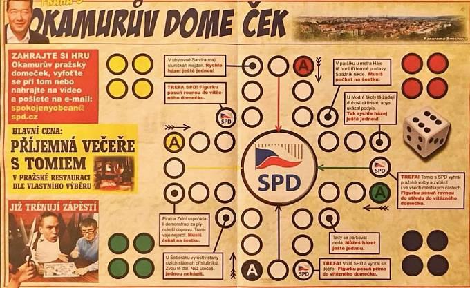 SPD společenská hra v SPD novinách