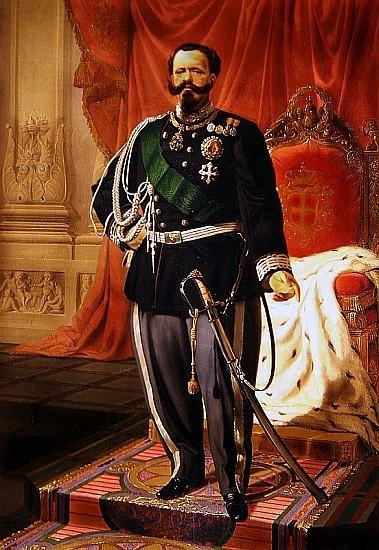 Viktor Emanuel II., první král nově utvořeného Italského království