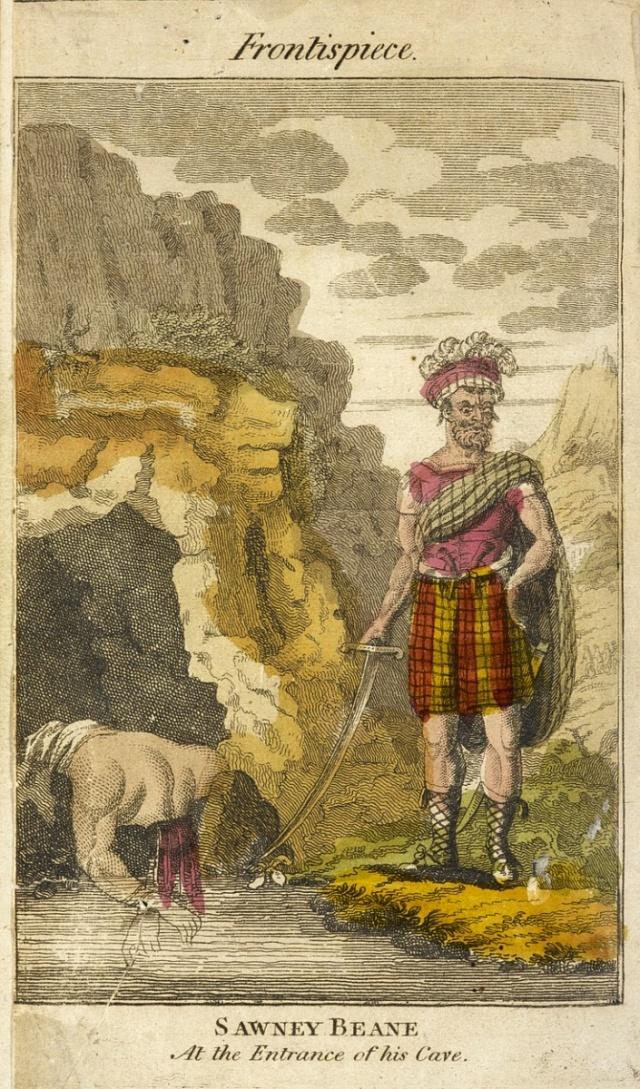 Sawney Bean - historická ilustrace