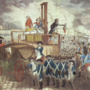 vyobrazení popravy Ludvíka XVI.