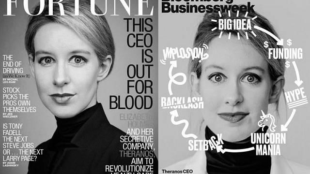 Elizabeth Holmes na titulních stránkách časopisů