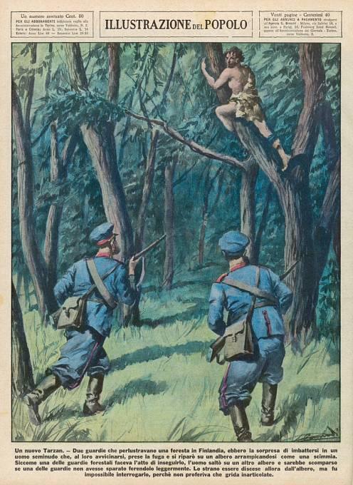 Ilustrace divokého muže z Finska, 1934