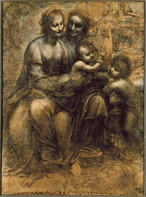 Panna a dítě se svatou Annou a svatým Janem