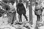 Zmrzlá těla sovětských vojáků během zimní války