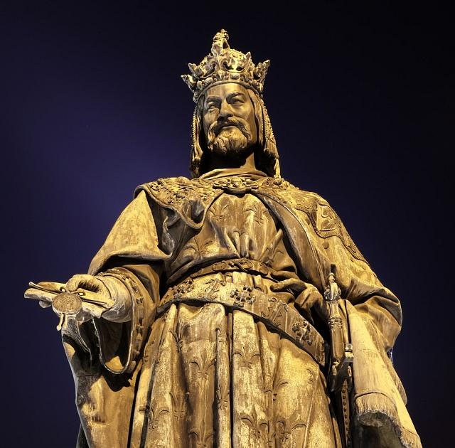 Bronzová socha Karla IV.