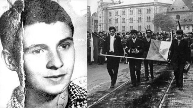 Ve čtvrtek 16. ledna 1969 okolo 14:30 se Jan Palach polil hořlavinou a zapálil