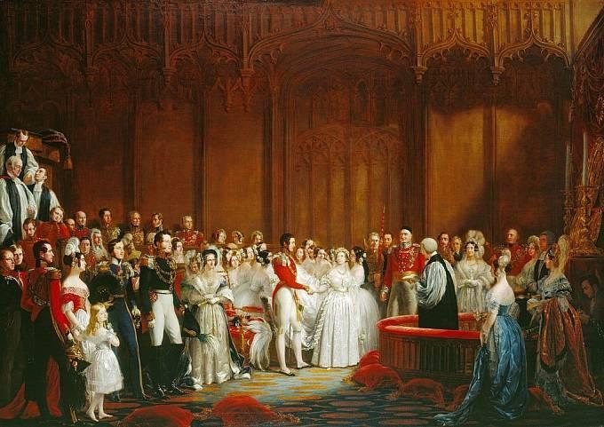 Svatba královny Viktorie s bratrancem Albertem