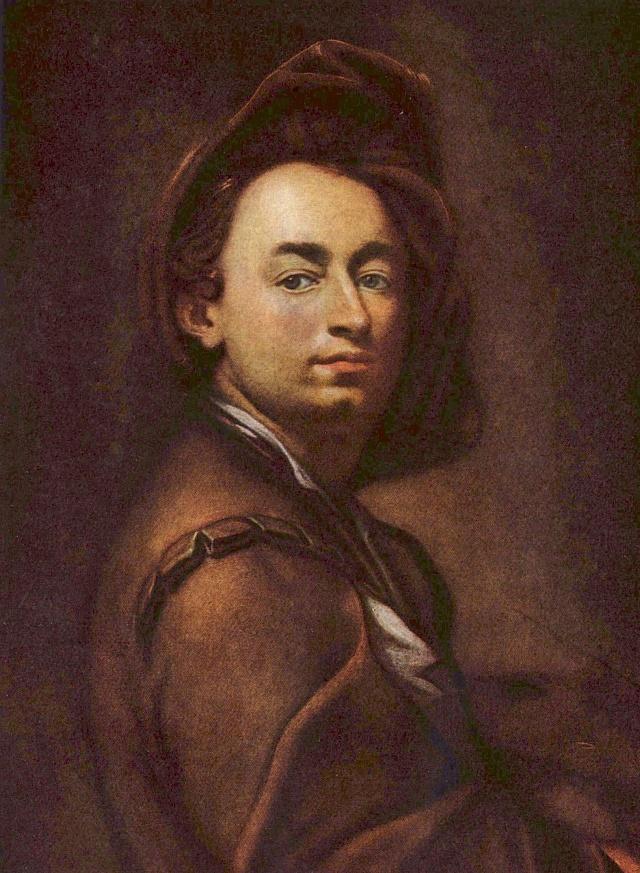 Petr Brandl: Autoportrét (1697)