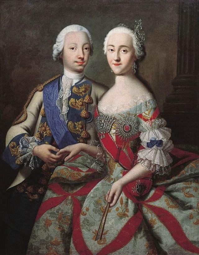 Petr III. smanželkou Kateřinou