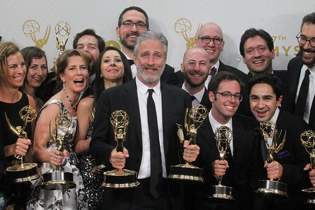 Jon Stewart na předávání cen Emmy vroce 2015