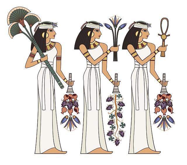 Bílé lehké šaty byly základem egyptské garderoby.