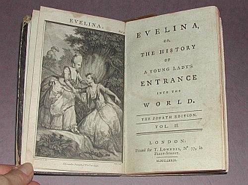 Frances Burneyová na sebe upozornila románem Evelína