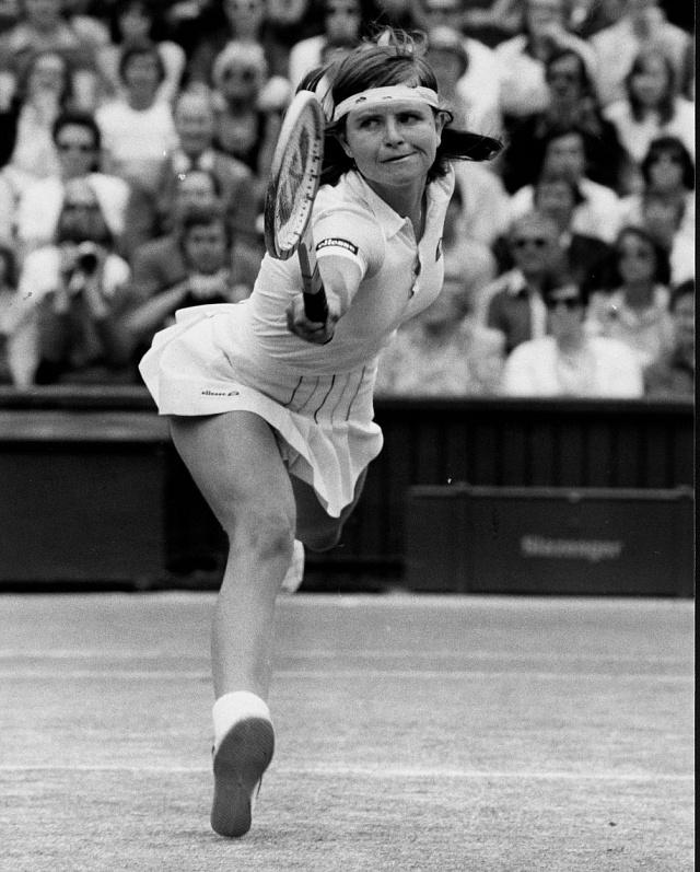 Hana Mandlíková (na snímku) spolu sHelenou Sukovou se v80. letech zasloužily otři triumfy Československa ve Fed Cupu.