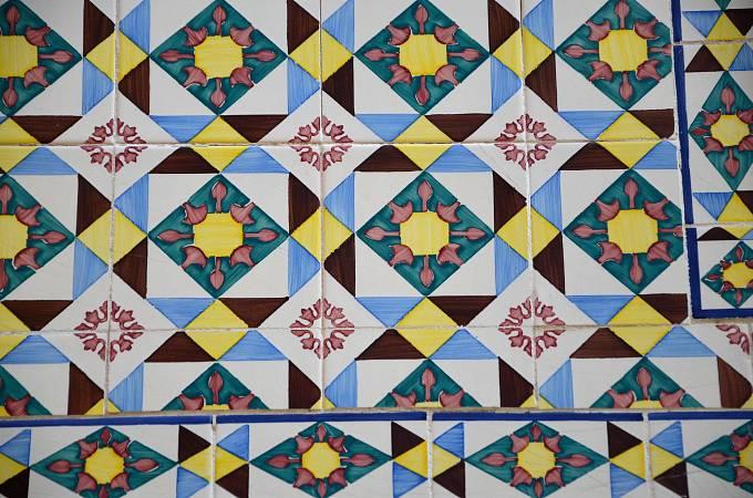 """Typické portugalské kachličky """"azulejos"""""""