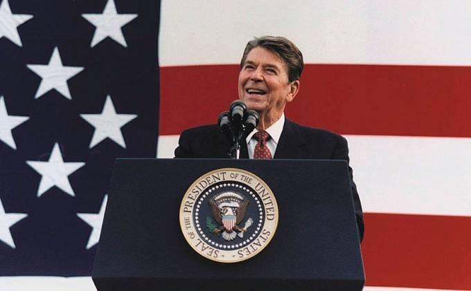Ronald Reagan v roce 1982.