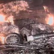 Místo dopadu F-117 krátce po zásahu